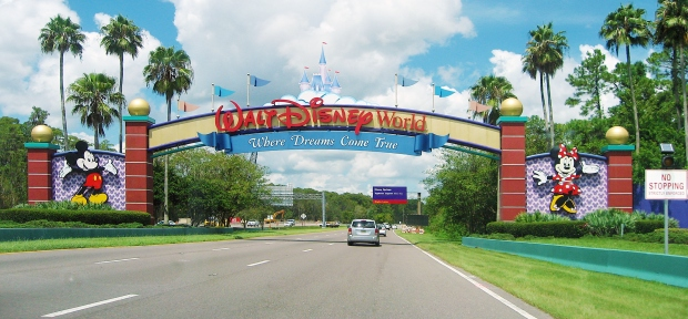 Entrance of Walt Disney World in Orlando, Florida
